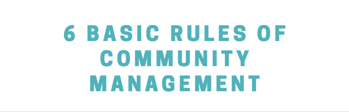 rules of community manager